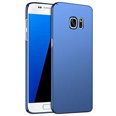 Schutzhülle Kunststoff Tasche Matt M02 für Samsung Galaxy S7 G930F G930FD Blau