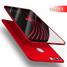 Schutzhülle Kunststoff Tasche Matt M03 für Huawei Honor 8 Rot