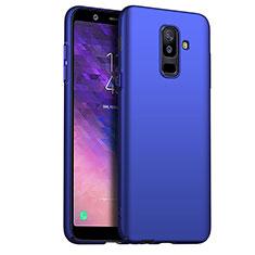 Schutzhülle Kunststoff Tasche Matt M03 für Samsung Galaxy A6 Plus (2018) Blau