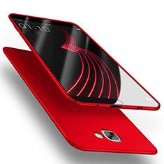 Schutzhülle Kunststoff Tasche Matt M03 für Samsung Galaxy A9 Pro (2016) SM-A9100 Rot