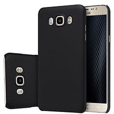 Schutzhülle Kunststoff Tasche Matt M03 für Samsung Galaxy J7 (2016) J710F J710FN Schwarz
