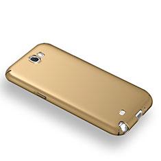 Schutzhülle Kunststoff Tasche Matt M03 für Samsung Galaxy Note 2 N7100 N7105 Gold