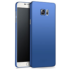 Schutzhülle Kunststoff Tasche Matt M03 für Samsung Galaxy Note 5 N9200 N920 N920F Blau