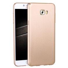 Schutzhülle Kunststoff Tasche Matt M04 für Samsung Galaxy C7 Pro C7010 Gold