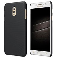 Schutzhülle Kunststoff Tasche Matt M04 für Samsung Galaxy J7 Plus Schwarz