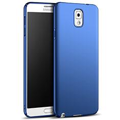 Schutzhülle Kunststoff Tasche Matt M05 für Samsung Galaxy Note 3 N9000 Blau