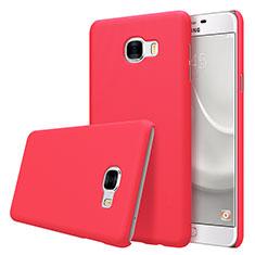 Schutzhülle Kunststoff Tasche Matt M08 für Samsung Galaxy C7 SM-C7000 Rot