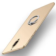 Schutzhülle Kunststoff Tasche Matt mit Fingerring Ständer A02 für Huawei Mate 9 Pro Gold
