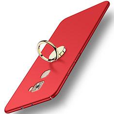 Schutzhülle Kunststoff Tasche Matt mit Fingerring Ständer A02 für Huawei Mate S Rot
