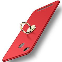 Schutzhülle Kunststoff Tasche Matt mit Fingerring Ständer A02 für Xiaomi Redmi 3 Pro Rot