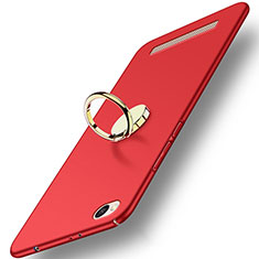 Schutzhülle Kunststoff Tasche Matt mit Fingerring Ständer A02 für Xiaomi Redmi 4A Rot
