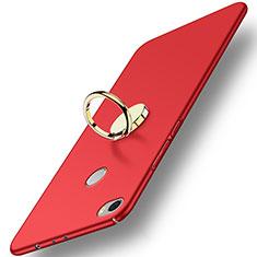 Schutzhülle Kunststoff Tasche Matt mit Fingerring Ständer A03 für Xiaomi Mi Max Rot