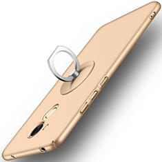Schutzhülle Kunststoff Tasche Matt mit Fingerring Ständer für Huawei Honor 6C Pro Gold