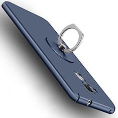 Schutzhülle Kunststoff Tasche Matt mit Fingerring Ständer für Huawei Honor 7 Lite Blau