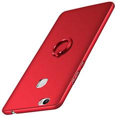 Schutzhülle Kunststoff Tasche Matt mit Fingerring Ständer für Huawei Honor Note 8 Rot