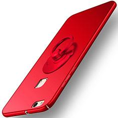 Schutzhülle Kunststoff Tasche Matt mit Fingerring Ständer für Huawei P10 Lite Rot