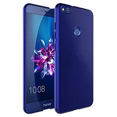 Schutzhülle Kunststoff Tasche Matt mit Fingerring Ständer für Huawei P8 Lite (2017) Blau