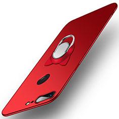 Schutzhülle Kunststoff Tasche Matt mit Fingerring Ständer für OnePlus 5T A5010 Rot