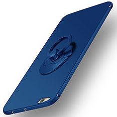 Schutzhülle Kunststoff Tasche Matt mit Fingerring Ständer für Xiaomi Mi 5C Blau