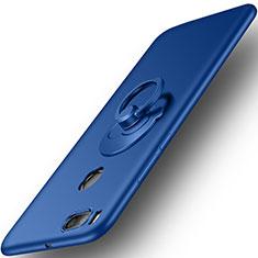 Schutzhülle Kunststoff Tasche Matt mit Fingerring Ständer für Xiaomi Mi A1 Blau
