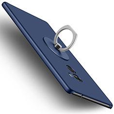Schutzhülle Kunststoff Tasche Matt mit Fingerring Ständer für Xiaomi Mi Mix Blau