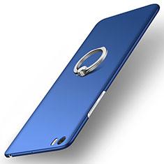 Schutzhülle Kunststoff Tasche Matt mit Fingerring Ständer für Xiaomi Mi Note Blau