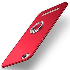 Schutzhülle Kunststoff Tasche Matt mit Fingerring Ständer für Xiaomi Redmi 4A Rot