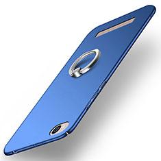 Schutzhülle Kunststoff Tasche Matt mit Fingerring Ständer für Xiaomi Redmi 5A Blau