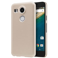 Schutzhülle Kunststoff Tasche Matt P01 für Google Nexus 5X Gold
