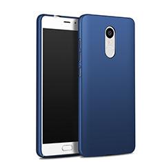Schutzhülle Kunststoff Tasche Matt Q03 für Xiaomi Redmi Note 4X High Edition Blau