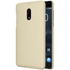 Schutzhülle Kunststoff Tasche Matt R01 für Nokia 6 Gold
