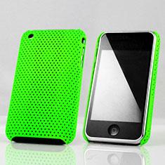 Schutzhülle Kunststoff Tasche Punkte Loch für Apple iPhone 3G 3GS Grün