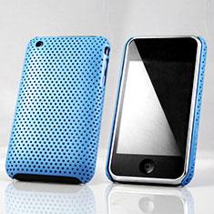 Schutzhülle Kunststoff Tasche Punkte Loch für Apple iPhone 3G 3GS Hellblau