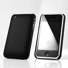 Schutzhülle Kunststoff Tasche Punkte Loch für Apple iPhone 3G 3GS Schwarz