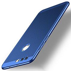 Schutzhülle Kunststoff Tasche Punkte Loch für Huawei Honor 8 Blau