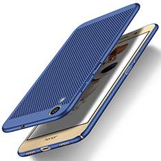 Schutzhülle Kunststoff Tasche Punkte Loch für Huawei Honor Holly 3 Blau