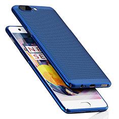 Schutzhülle Kunststoff Tasche Punkte Loch für OnePlus 5 Blau