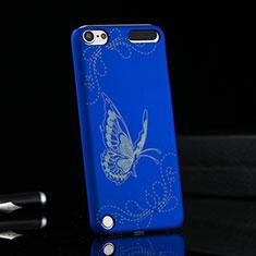 Schutzhülle Kunststoff Tasche Schmetterling für Apple iPod Touch 5 Blau