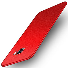 Schutzhülle Kunststoff Tasche Treibsand für Samsung Galaxy C7 SM-C7000 Rot