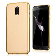 Schutzhülle Kunststoff Tasche Treibsand für Samsung Galaxy J7 Plus Gold