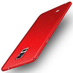 Schutzhülle Kunststoff Tasche Treibsand für Samsung Galaxy Note 4 SM-N910F Rot