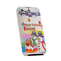 Schutzhülle Kunststoff Tasche Weihnachten für Apple iPhone 3G 3GS Bunt