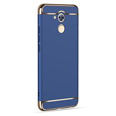 Schutzhülle Luxus Aluminium Metall für Huawei Enjoy 6S Blau