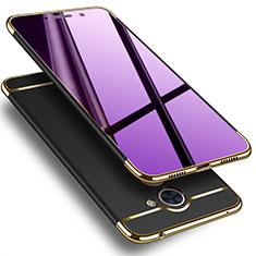 Schutzhülle Luxus Aluminium Metall für Huawei Enjoy 7 Plus Schwarz