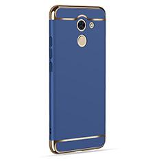 Schutzhülle Luxus Aluminium Metall für Huawei Y7 Prime Blau
