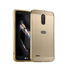 Schutzhülle Luxus Aluminium Metall für LG Stylus 3 Gold