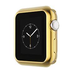 Schutzhülle Luxus Aluminium Metall Rahmen A01 für Apple iWatch 3 42mm Gold