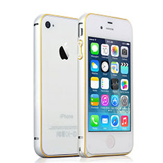 Schutzhülle Luxus Aluminium Metall Rahmen für Apple iPhone 4 Silber