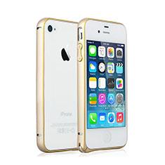 Schutzhülle Luxus Aluminium Metall Rahmen für Apple iPhone 4S Gold