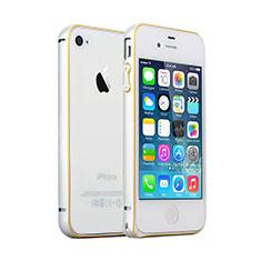Schutzhülle Luxus Aluminium Metall Rahmen für Apple iPhone 4S Silber